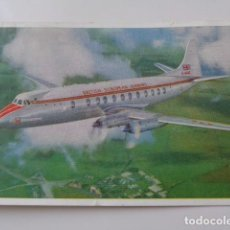 Postales: BRITISH EUROPEAN AIRWAYS. AVIÓN VISCOUNT 800. POSTAL REINO UNIDO. 1962. BONITA. Lote 98379451