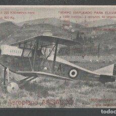 Postales: AEROPLANO ANSALDO - MAYO 1919 - P22894. Lote 98490639