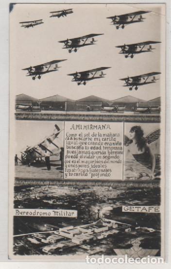 POSTAL FOTOGRÁFICA. GETAFE AERÓDROMO MILITAR. VISTA GENERAL. SIN CIRUCLAR. AVIACIÓN. AVION. (Postales - Postales Temáticas - Aeroplanos, Zeppelines y Globos)
