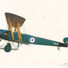 Postales: POSTAL MILITAR AVION AVRO 504-K 1915 10 X 15 CM (APROX). Lote 101455211