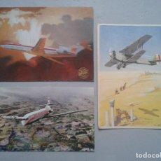 Postales: LOTE DE 3 POSTALES DE AVIONES.. Lote 102085415