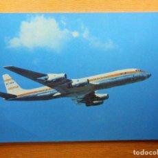 Postales: POSTAL - AVIONES - DOUGLAS DC-8 TURBOFAN - IBERIA - 1967 - T.G. LLAUGER - NE - NC. Lote 102363019