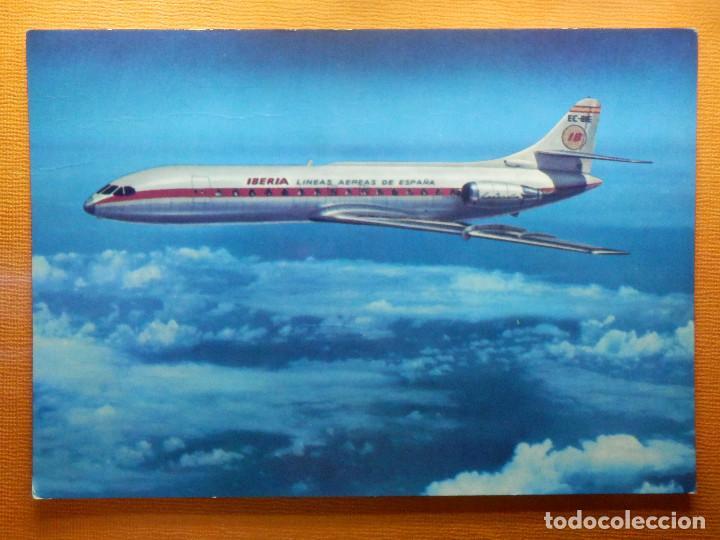 POSTAL - AVIONES - CARAVELLE X-R- - IBERIA - 1968 - PUMERSA - ESCRITA (Postales - Postales Temáticas - Aeroplanos, Zeppelines y Globos)