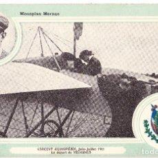 Postales: TARJETA POSTAL MONOPLAN MORANE - CIRCUIT EUROPEEN 1911 - VEDRINES. Lote 103468131