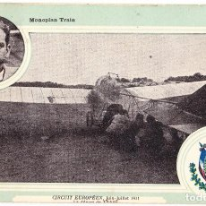 Postales: TARJETA POSTAL MONOPLAN TRAIN - CIRCUIT EUROPEEN 1911 - VEDRINES. Lote 103468439