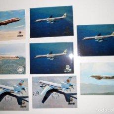 Postales: LOTE 8 POSTALES AVIONES POSTAL IBERIA - SPANTAX - AERONAUTICA COLECCIONISMO. Lote 103633775