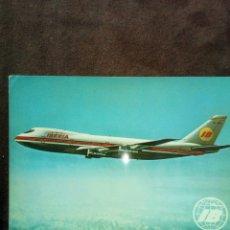 Postales: POSTAL IBERIA BOEIHG 747 JET SIN CIRCULAR. Lote 103816540
