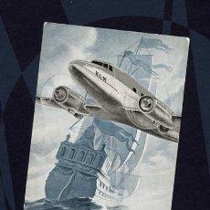 Postales - KLM Postal tornasolada. Koninklijke Luchtvaart Maatschappij - Real Compañía Holandesa Aviación, 1940 - 104041307