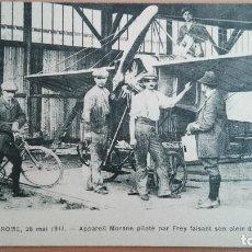 Postales: POSTAL AVIACION PARIS ROME 1911 APPAREIL MORANE PILOTÉ PAR FREY FAISANT AUTOMOBILINE AVIATION FRANCE. Lote 104771259