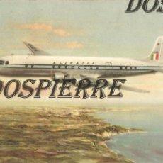 Postales: POSTAL, ALITALIA SUPER DC 6B, THE AMERICAN EXPRESS CO. INC. PARÍS, AVIÓN, CIRCULADA. Lote 104827639