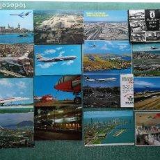 Postales: LOTE 44 POSTALES DE AVIONES Y AEROPUERTOS - ( NOVLOTE ). Lote 105422635