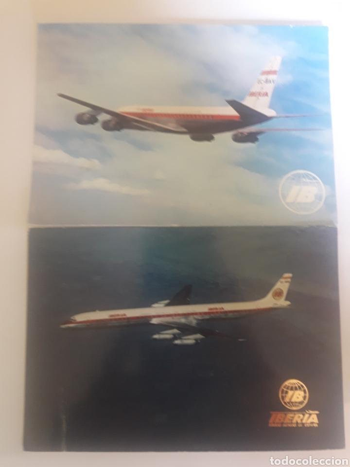 LOTE 2 POSTALES IBERIA AÑO 1971 (Postales - Postales Temáticas - Aeroplanos, Zeppelines y Globos)