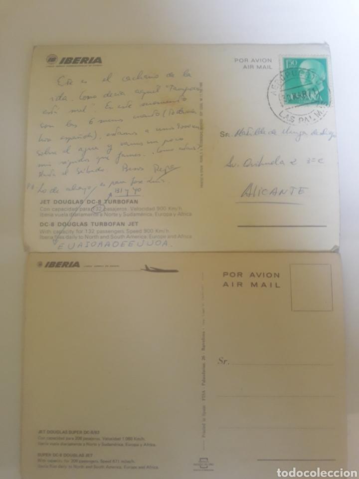 Postales: Lote 2 postales Iberia año 1971 - Foto 2 - 105726276
