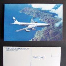 Postales: POSTAL DE PAN AMERICAN DOUGLAS DC-8C. Lote 105748503