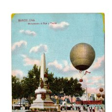 Postales: POSTAL DE AVIACIÓN.- MONUMENTO A RIUS Y TAULET BARCELONA DR TRENKLER. Lote 105765931