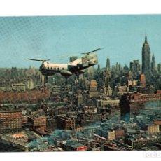 Postales: POSTAL HELICOPTERO EN NEW YORK. Lote 107374575