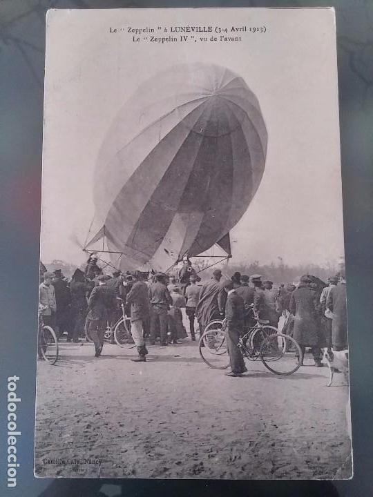 POSTAL DE AVIACION, ZEPPELIN IV, EL 3 ,4DE ABRIL DE 1913 EN LUNEVILLE, FRANCIA, NO CIRCULADA, ORIGIN (Postales - Postales Temáticas - Aeroplanos, Zeppelines y Globos)