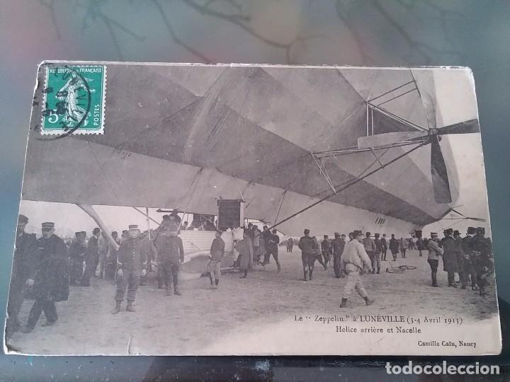 POSTAL DE AVIACION, ZEPPELIN, EL 3, 4 DE ABRIL DE 1913 EN LUNEVILLE, FRANCIA, CIRCULADA EN MAYO DE 1 (Postales - Postales Temáticas - Aeroplanos, Zeppelines y Globos)