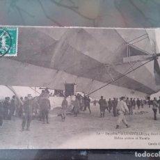 Postales: POSTAL DE AVIACION, ZEPPELIN, EL 3, 4 DE ABRIL DE 1913 EN LUNEVILLE, FRANCIA, CIRCULADA EN MAYO DE 1. Lote 110024139