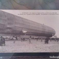 Postales: POSTAL DE AVIACION, ZEPPELIN, EL 3 DE ABRIL DE 1913 EN LUNEVILLE, N. 5, FRANCIA, NO CIRCULADA, ORIGI. Lote 110024367
