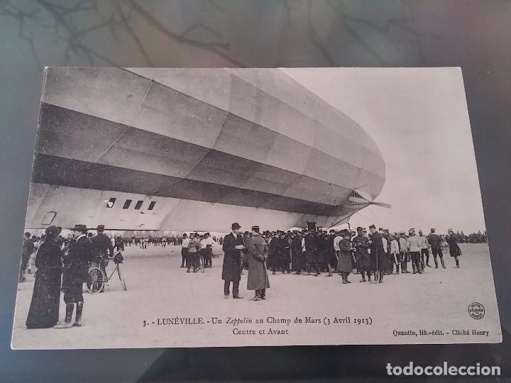 POSTAL DE AVIACION, ZEPPELIN, EL 3 DE ABRIL DE 1913 EN LUNEVILLE, N. 3, FRANCIA, NO CIRCULADA, ORIGI (Postales - Postales Temáticas - Aeroplanos, Zeppelines y Globos)