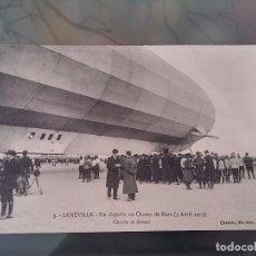Postales: POSTAL DE AVIACION, ZEPPELIN, EL 3 DE ABRIL DE 1913 EN LUNEVILLE, N. 3, FRANCIA, NO CIRCULADA, ORIGI. Lote 110024491