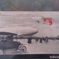 Postales: POSTAL DE AVIACION, ZEPPELIN, EL 3, 4 DE ABRIL DE 1913 EN LUNEVILLE, FRANCIA, CIRCULADA, ORIGINAL. E. Lote 110024627