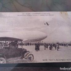 Postales: POSTAL DE AVIACION, ZEPPELIN, EL 3,4 DE ABRIL DE 1913, LUNEVILLE, FRANCIA, CIRCULADA, ORIGINAL. ED. . Lote 110025059
