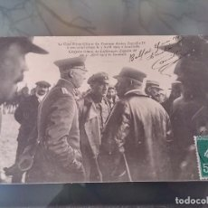 Postales: POSTAL DE AVIACION, ZEPPELIN, EL JEFE PILOTO DEL DIRIGIBLE ZEPPELIN IV, ATERRIZADO EL 3 DE ABRIL 191. Lote 110025915