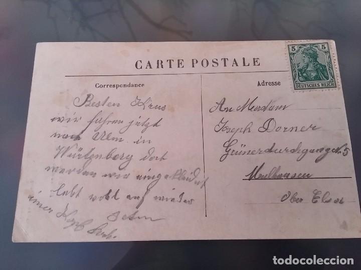 Postales: POSTAL DE AVIACION, ZEPPELIN, EL JEFE PILOTO DEL DIRIGIBLE ZEPPELIN IV EN LA CABINA, ATERRIZADO EL 3 - Foto 2 - 110025999
