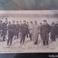 Postales: POSTAL DE AVIACION, ZEPPELIN, GENERAL LELSCOT Y BARON E. DE TURCKHEIM, 3,4 DE ABRIL 1913 EN LUNEVILL. Lote 110026191