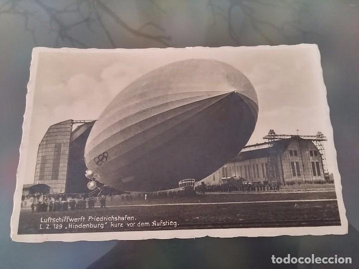 FOTO POSTAL DE AVIACION, ZEPPELIN, HINDENBURG, EL LZ 129, HINDENBURG FUE UN DIRIGIBLE ALEMÁN TIPO ZE (Postales - Postales Temáticas - Aeroplanos, Zeppelines y Globos)