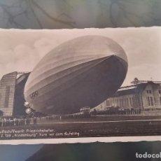 Postales - FOTO POSTAL DE AVIACION, ZEPPELIN, HINDENBURG, El LZ 129, Hindenburg fue un dirigible alemán tipo ze - 110027287