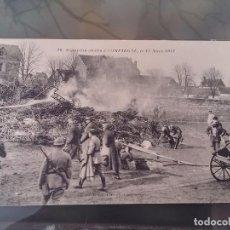 Postales: POSTAL DE ZEPPELIN ABATIDO EN CAMPAÑA, 17 DE MARZO DE 1917, N. 16, PHOT BAUDINIERE, NO CIRCULADA. ES. Lote 110027799