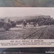 Postales: POSTAL DE ZEPPELIN ABATIDO EN CAMPAÑA, 21 DE OCTUBRE DE 1917, ED. E. LE DELEY, NO CIRCULADA. . Lote 110028027