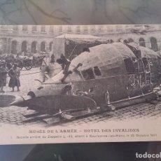 Postales: POSTAL DE LOS RESTOS DE UN ZEPPELIN L. 49, 20 DE OCTUBRE DE 1917, MUSEE DE L´ARMEE, E. LE DELEY IMP.. Lote 110029115