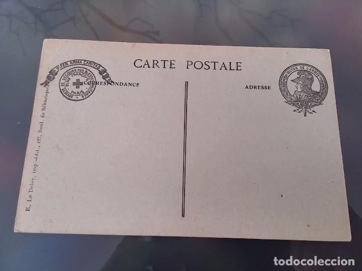Postales: POSTAL DE LOS RESTOS DE UN ZEPPELIN L. 49, 20 DE OCTUBRE DE 1917, MUSEE DE L´ARMEE, E. LE DELEY IMP. - Foto 2 - 110029115