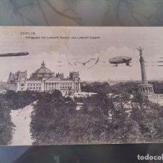 Postales: POSTAL DE DOS ZEPPELIN, DIRIGIBLES A SU PASO POR BERLIN, CIRCULADA EN 1910, DR. TRENKLER CO., ORIGI. Lote 110029443