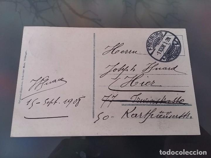 Postales: POSTAL DE AVIACION, ZEPPELIN MODELL 4, CIRCULADA EN FREIBURG, EN 1908, ED. EIGENTIUN METZ, ORIGINAL - Foto 2 - 110029583