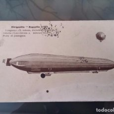 Postales: POSTAL DE AVIACION, DIRIGIBLE ZEPPELIN III, CIRCULADA EN 1912, ORIGINAL.. Lote 110029695