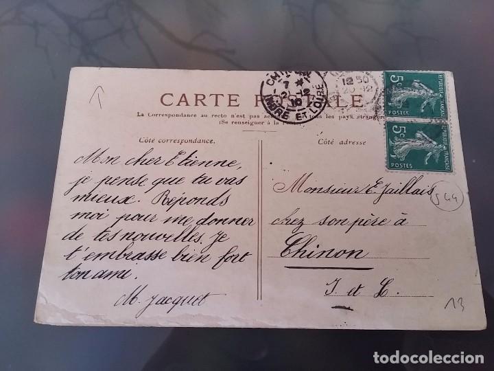 Postales: POSTAL DE AVIACION, DIRIGIBLE ZEPPELIN III, CIRCULADA EN 1912, ORIGINAL. - Foto 2 - 110029695