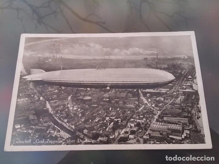 FOTO POSTAL DE AVIACION, DIRIGIBLE GRAF ZEPPELIN, SOBRE DUISBURG, CIRCULADA EN 1931, ED. L.W.B, ORI (Postales - Postales Temáticas - Aeroplanos, Zeppelines y Globos)