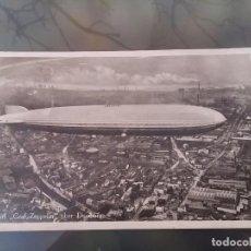 Postales: FOTO POSTAL DE AVIACION, DIRIGIBLE GRAF ZEPPELIN, SOBRE DUISBURG, CIRCULADA EN 1931, ED. L.W.B, ORI. Lote 110029843