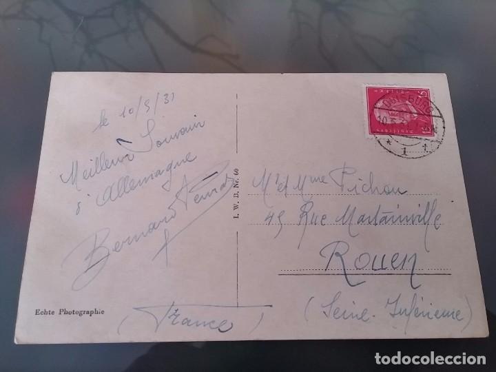 Postales: FOTO POSTAL DE AVIACION, DIRIGIBLE GRAF ZEPPELIN, SOBRE DUISBURG, CIRCULADA EN 1931, ED. L.W.B, ORI - Foto 2 - 110029843
