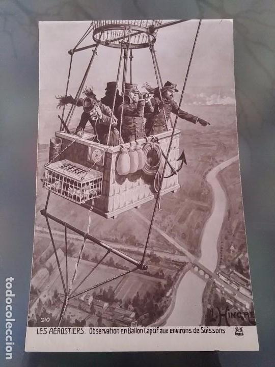 FOTO POSTAL DE AVIACION, DIRIGIBLE, ZEPPELIN, OBSERVATORIO DESDE GLOBO AEROSTATICO, ED. GALARIE PATR (Postales - Postales Temáticas - Aeroplanos, Zeppelines y Globos)