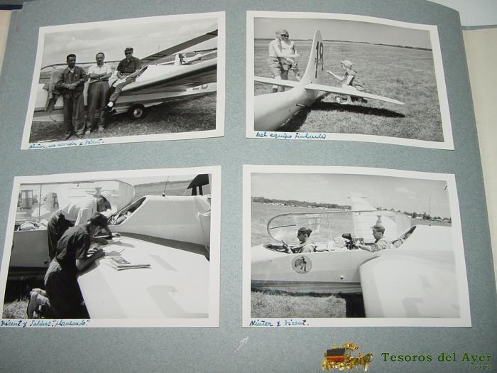 Postales: ANTIGUO ALBUM FOTOGRAFICO DE EL CAMPEONATO MUNDIAL DE VUELO A VELA DE 1956 EN SAINT YAN (Francia) C - Foto 3 - 38264424