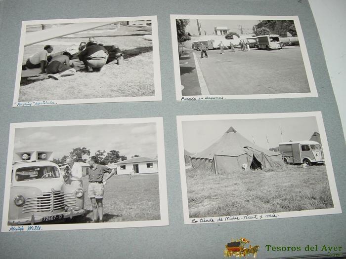 Postales: ANTIGUO ALBUM FOTOGRAFICO DE EL CAMPEONATO MUNDIAL DE VUELO A VELA DE 1956 EN SAINT YAN (Francia) C - Foto 4 - 38264424