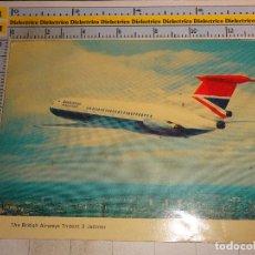 Postales: POSTAL DE AVIONES AEROLÍNEAS. BRITISH AIRWAYS TRIDENT 3 JETLINER. 1329. Lote 110809391