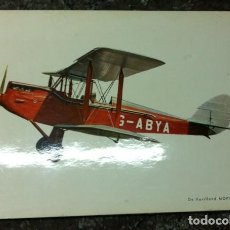 Postales: S-2499- DE HAVILLAND MOPH D.H. 60 1925, PEGADA EN FULLOLA O PAPEL PRENSADO. Lote 111472799