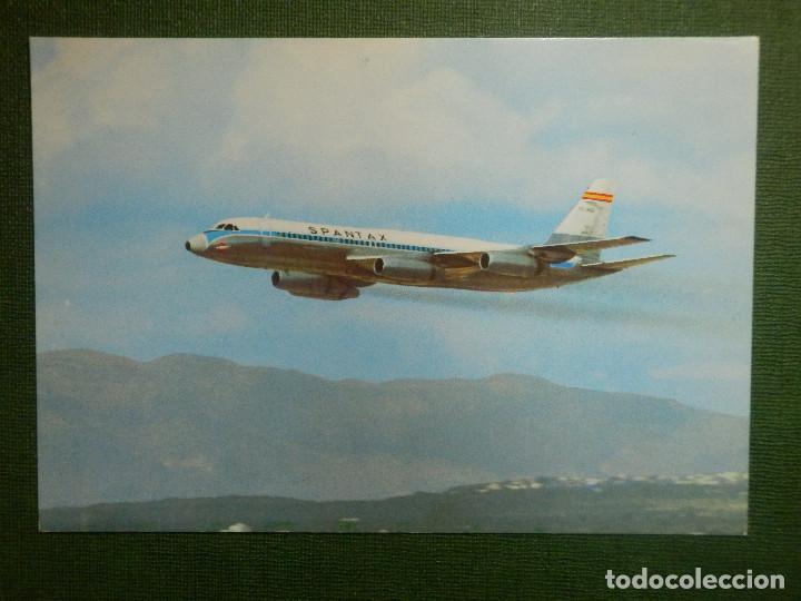 POSTAL - AVIONES - SPANTAX - CONVAIR CV 990 A - CORONADO - I.G. DOMINGO - (Postales - Postales Temáticas - Aeroplanos, Zeppelines y Globos)